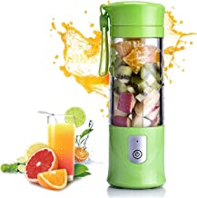 Portable Blender, Personal Size Blender USB Juicer Cup, 420ml Fruit Mixer Machine with 4000mAh Rechargeable Battery, Mini ...