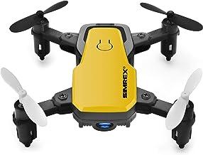 SIMREX X300C 8816 Mini Drone with Camera WiFi HD FPV Foldable RC Quadcopter Rtf 4CH 2.4Ghz Remote Control Headless [Altitu...