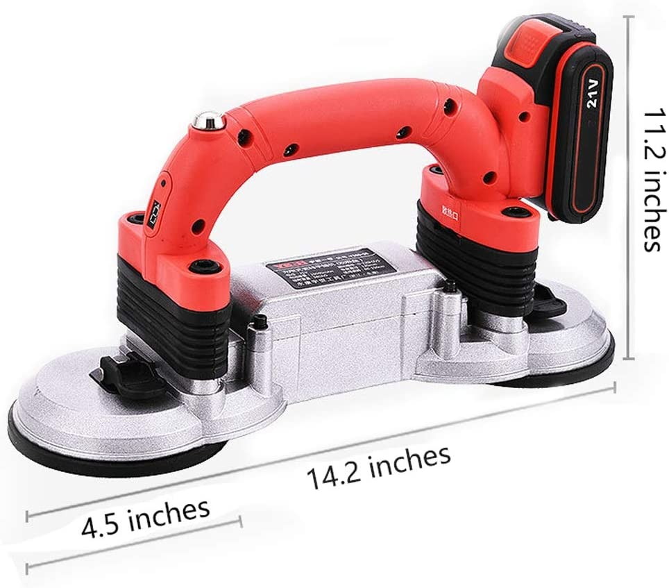 21V Outil de Bricolage de Pavage Plat de nivellement Automatique avec Doubles ventouses pour Les Murs de Construction Machine vibrante GladyStore Coupe-Carreaux manuels,Machine /à carrelage