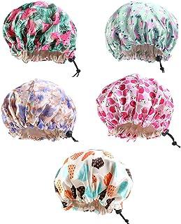 Stile Casuale Minkissy Cuffie per Doccia Cuffie per Doccia Resistenti alle muffe da Bagno Impermeabili Regolabili da 10 Pezzi per Donna