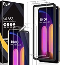 4 Pack EGV Screen Protector Compatible with LG V60 ThinQ, for The Dual Screen, 2 Pack Tempered Glass & 2 Pack Flexible TPU...