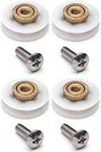 YUANQIAN Vervanging Douche Deur Rollers/Runners/Wielen V Gegroefde 19mm Diameter YQ19 (V Gegroefd 19mm 4st)