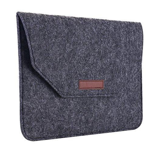 Umiko(TM) Waterproof Fabric Laptop Shoulder Bag Laptop Sleeve Notebook Case for Macbook Pro 15 inch Slim Eco Felt Notebook Envelope Bag Trim Tablet Computer Protective Sleeve Case for Men Guy