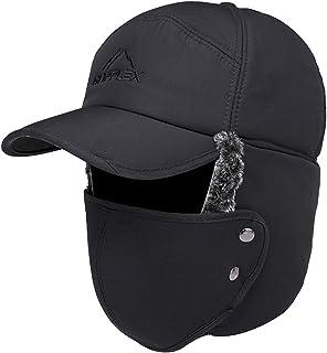 Winter Warm Hat with Detachable Mask Full Face Outdoor Windproof Hat Women Men Baseball Cap