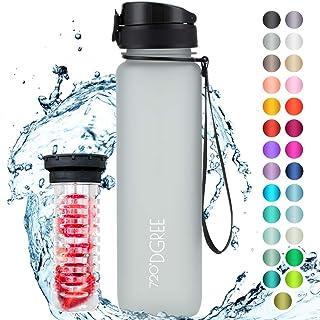 """720°DGREE Trinkflasche """"uberBottle"""" Früchtebehälter - 1L - BPA-Frei - Wasserflasche für Sport, Fitness, Uni, Fahrrad, Outdoor - Sportflasche aus Tritan - Leicht, Bruchsicher, Nachhaltig"""