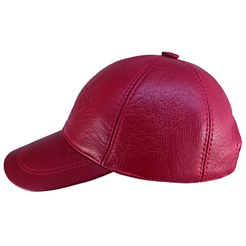 CIAO VESTITI Unixex Adjustable Genuine Leather Baseball Cap Hat Assembled  in USA 701eae202cf