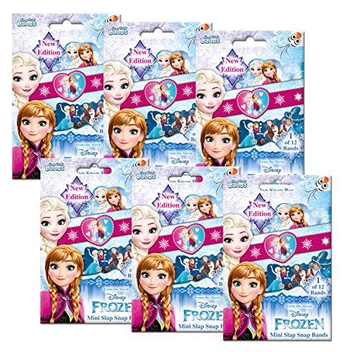 CRAZE SLAP SNAP BANDS 6er Bundle Klatscharmband Set Kinder Armbänder Disney Frozen Die Eiskönigin 55138