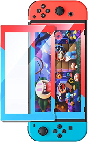 high quality UGREEN Switch Screen Protector for outlet sale online sale Nintendo Switch Tempered Glass Screen Red and Blue Theme Color Border with Transparent HD Clear Anti-Scratch(Red/Blue) sale