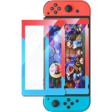 UGREEN 3D Protector de Pantalla para Nintendo Switch, Mica de Vidrio Cristal Templado 9H Dureza con Borde Rojo y Azul, Alta Definición HD para Nintendo Switch (1 Pack)