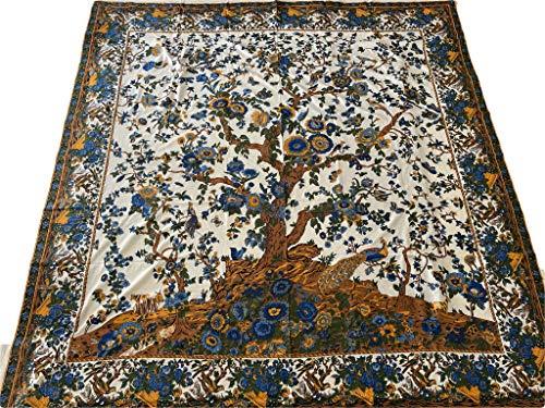 Media 250 x 260 cm tela cubre toda la cama sofá (AlberoVita amarillo azul)