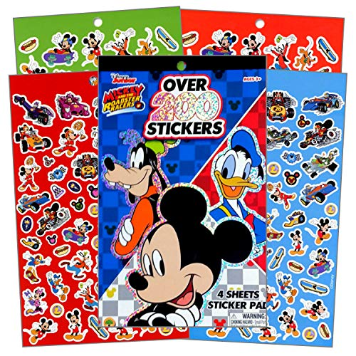 Disney Mickey Mouse Sticker Set ~ Mickey Mouse Sticker Pad with Over 200 Stickers and Bonus Sticker Sheet Featuring Mickey Mouse, Donald Duck, Minnie Mouse and More (Mickey Mouse Party Favors)