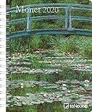 Monet 2020 Diary - Buchkalender - 16,5x21,6cm -  Taschenkalender - Wochenplaner - Diary - Kunstkalender