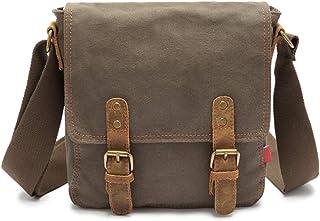 High 33CM Wide 8 New Canvas Bag Mens Shoulder Bag Messenger Bag Retro Cross Section Shoulder Bag Khaki Brown Army Green 22L-26L Long 34