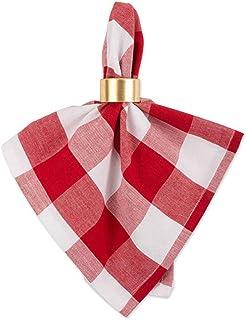 Kaaltisy Square Buffalo Plaid Cloth Napkins 18 X 18 Inches Fabric Napkins Set of 4 Buffalo Check Napkins Soft Cotton Cloth...