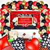 70 Pieces Casino Party Decoration Supplies Set, Include Casino Theme Birthday Backdrop, 4 Poker Suit Foil Balloons and 65 Latex Balloons for Las Vegas Casino Theme Party Casino Night Poker Events #4
