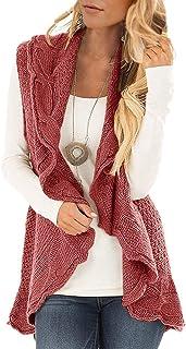 YSkkt Womens Sweater Vest Plus Size Cable Knit Open Front Cardigans Fall Jackets Winter Coats Outwear