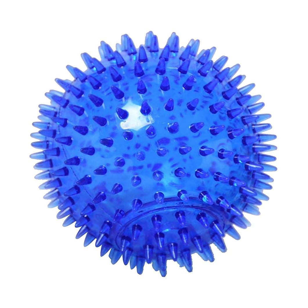 ステッチ笑直面するFLAMEER マッサージボール TPR トリガーポイントマッサージ 指圧マッサージ ヨガボール 3サイズ選べ - 青, 12cm