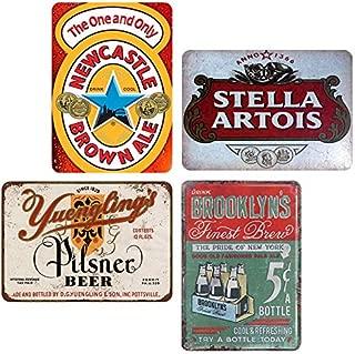 YFULL Yuengling's Pilsner Beer Brown Ale Stella Artois Brooklyn's Tin Sign Metal Retro Vintage Signs 8x12 4pcs