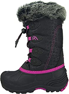 ICEFACE Kids Snow Boots for Girls Boys and Toddlers, Anti-Slip Waterproof Insulated Winter Boots with Fur Lining