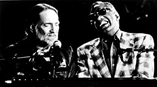 Ray Charles performing with Willie Nelson Photo Print (10 x 8)