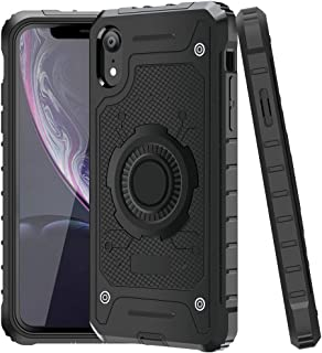 Jelanry iPhone XR Case Heavy Duty Rugged Armor iPhone XR Case 2-Layer Full Body Protective Shell Shockproof Sports Anti-Scratch Non-Slip Bumper Rugged Cover Hybrid Case for iPhone XR Black