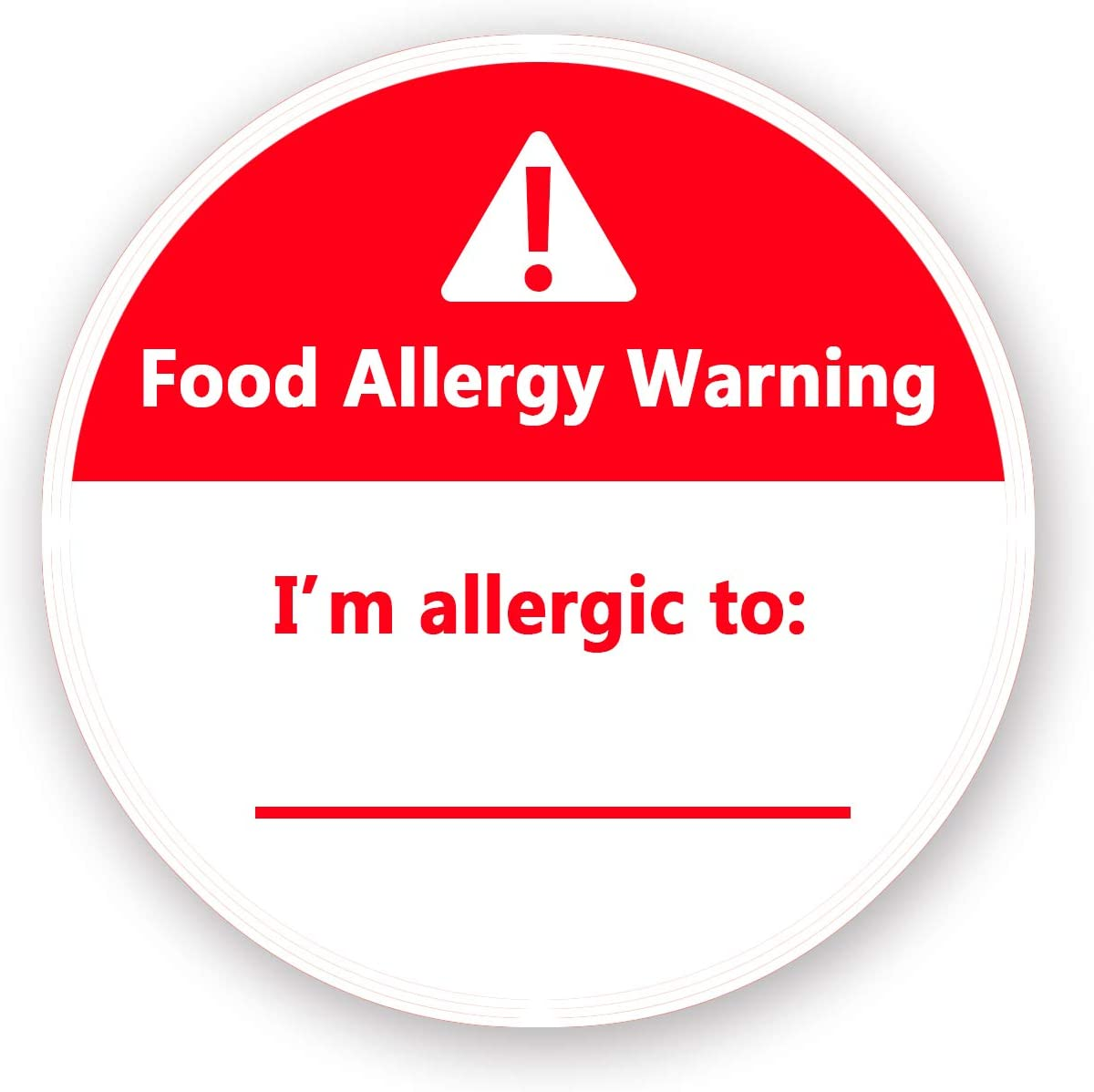 Allergies Stickers,Writable Allergy Labels,I'm Allergic to Stickers,1.5 Inch Total 500 Per Roll