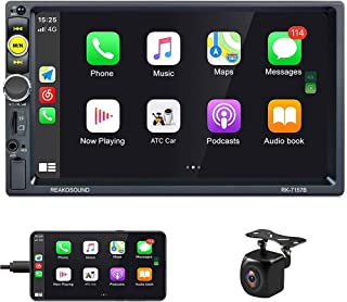 $89 » Car Radio with Apple Carplay Double Din Stereo Hikity 7 Inch Touch Screen Car Radio with Bluetooth Support FM, Voice Contr...