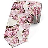 Cravate, Bouquets de fleurs pastel, Rose pêche pâle magenta