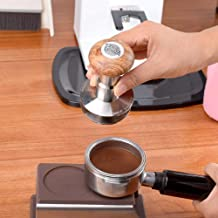 KOIYOI 1pc Professional Espresso Stainless Steel Coffee Tamper 58.5mm Adjustable Macaron Hammer,58.5MM Black