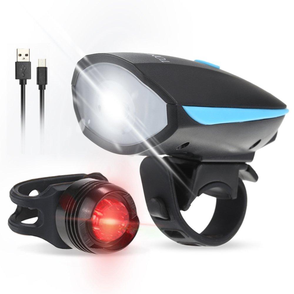 Tomshine Luz Bicicleta LED USB, Super Brillante LED Luz Delantera ...