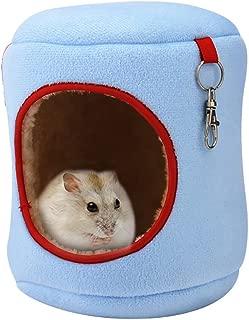 Pevor Pet Hamster Cage Hammock Nest - Portable Animal Design Warm Hamster House Travel Comfort Carrier for Small Pet Sugar Glider Hamster Hedgehog Bird