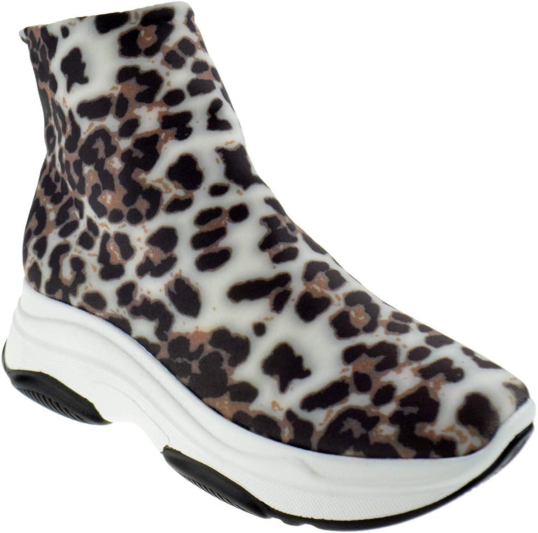 Glister bila 02 kvinnor Micro Fiber Ankle Elastisk Fabric Fabric Fabric Knight Hightop skor  wholesape billig