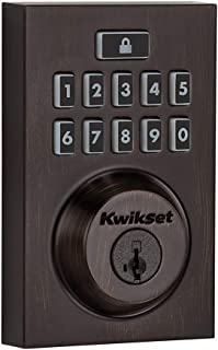 Kwikset Smartcode 913 Contemporary Electronic Deadbolt Featuring Smartkey In Venetian Bronze