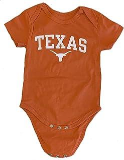 Texas Longhorns Girls 3pc Creeper Set Ruffles Infant Baby