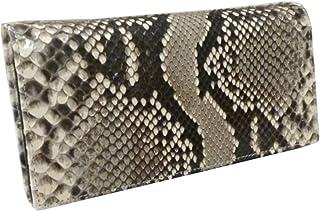 [IMPショップ] 蛇革 パイソン 財布 メンズ/艶有 長財布(157)