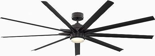 """popular Fanimation FPD8159BLW Odyn Ceiling Fan with LED Light 2021 Kit, 84"""", outlet online sale Black outlet sale"""