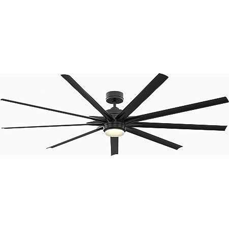 """Fanimation FPD8159BLW Odyn Ceiling Fan with LED Light Kit, 84"""", Black"""