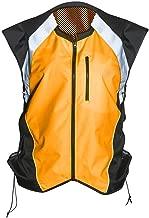 Badass Motogear Hi Vis Reflective Motorcycle Safety Vest. Fits Over Jacket, Zip Front, Pocket (XL: No Logo Fits Over Lg-XL Jackets, Bold Orange)