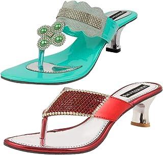 ABJ Fashion Green Slipper and Red Slipper Combo for Women