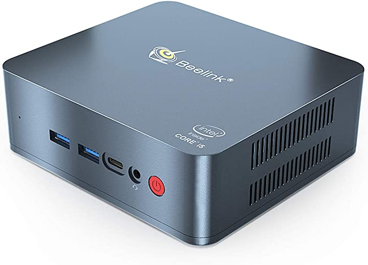 Mini pc beelink u57 windows 10 pro mini pc intel core i5-5257u processore ddr3l 8gb/256gb ssd B07SB2P75T