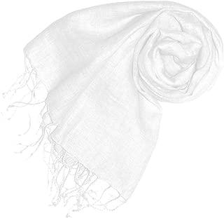 Lorenzo Cana Damenschal Schal Tuch Leinenschal 65 cm x 175 cm 100% Leinen Cremeweiss Weiss Damentuch Schaltuch - 93070