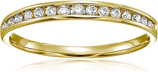 Vir Jewels 1/5 cttw Classic Diamond Wedding Band in 10K White Gold Channel Set