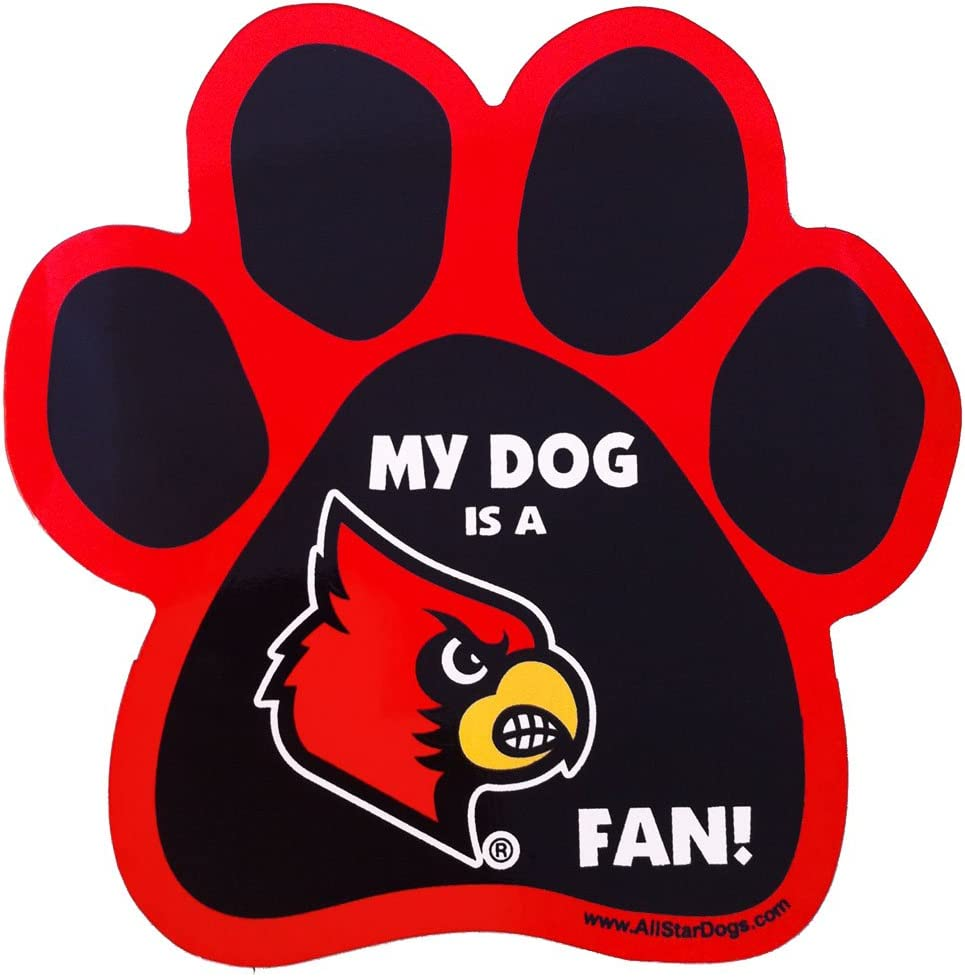NCAA New popularity Louisville Cardinals Paw Our shop most popular Car Print Magnet