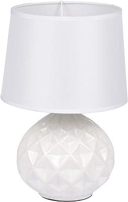 HOMEA 6LCE121BC LAMPE, CERAMIQUE, 40 W, Blanc, DIAMETRE20H29.5CM
