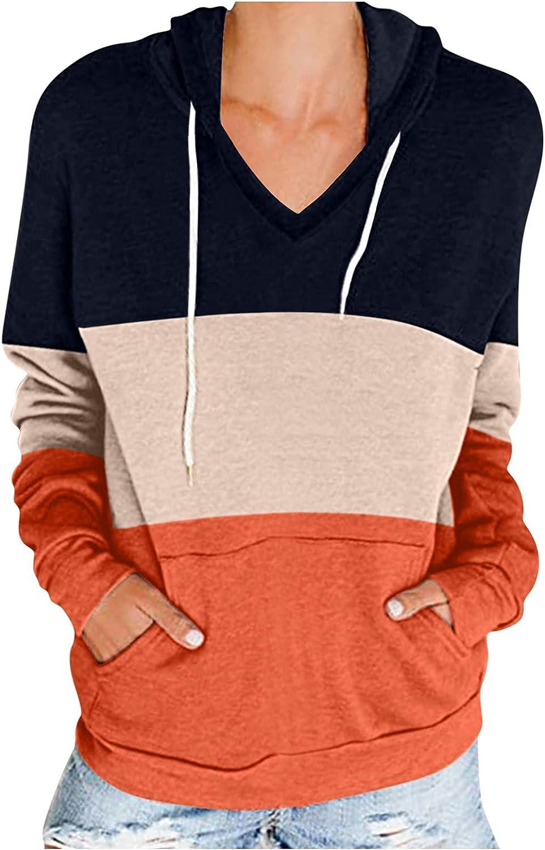 PLENTOP 2022 Women's Pullover Long Color Fall Sleeve Blo lowest price Hoodies Super intense SALE