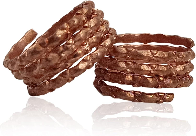 M'VIR Women's Toe Rings/Bichiya/Mettelu/Metti/Kaalungura/Jodavi Available in Pair Acupressure Ayurveda in copper.