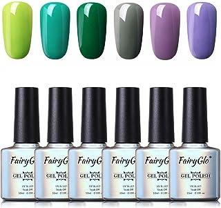Esmalte de Uñas 3 en 1 Esmaltes Semipermenentes para Uñas Kit de Uñas de Gel One Step Soak off Pintauñas de Colores para M...