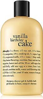Philosophy Vanilla Birthday Cake Shampoo, Shower Gel and Bubble Bath, 480 ml