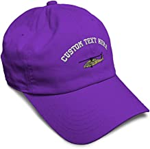 Custom Soft Baseball Cap Blackhawk Military Helicopter Embroidery Twill Cotton