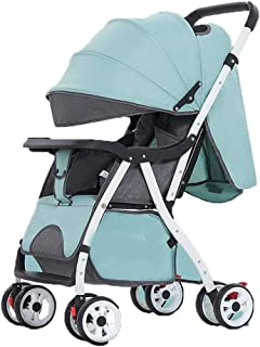 Stroller Pushchair for Toddlers, Baby Stroller Buggy Folding Pushchair Lightweight Pram One Step Design for Opening and Folding Travel System, Green